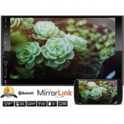 J3L 7025 7 inch Touch Screen Full HD Double Din Car Stereo with Mirror Link Bluetooth MP5 USB FM SD Card Support