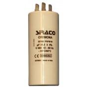 Siraco Üzemi kondenzátor 100 µF 4 villás