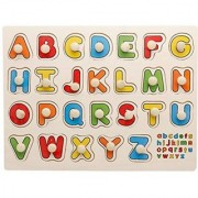 SHRIBOSSJI CAPITAL ALPHABET ABC WOODEN PUZZLE FOR KIDS.