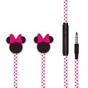 Casti Jack 3.5mm Disney Minnie Matt Head 3D Pink