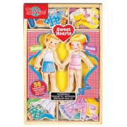 T. S. Shure Sweet Hearts Wooden Magnetic Dress-Up Dolls