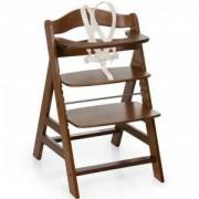 Дървено столче за хранене - Alpha Plus Walnut, Hauck, 661130