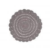 Miliboo Teppich rund und gehäkelt dunkelgrau 120cm ALMA
