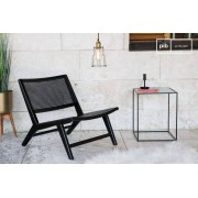 PIB Fauteuil en cannage Black Thisted