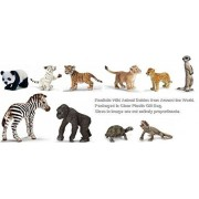 Schleich Realistic Wildlife: Set Of 10 Wild Animal Babies From Around The World Packaged Together