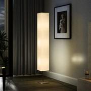 vidaXL Декоративна лампа от оризова хартия на стойка, 170 см