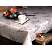 OVÁLIS asztalterítő, abrosz 140x180 cm - bézs virágos (107)