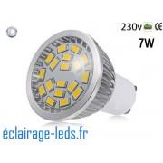 Ampoule led GU10 7W Blanc Froid 6000K ~55W 140° ref gu10-14