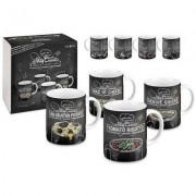 geschenkidee.ch Tassen mit Rezepten für die Mikrowelle 4er Set