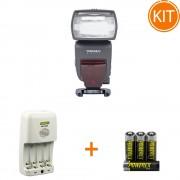 Kit Blit Yongnuo YN685 Nikon + Bonus Incarcator Maha MH-C204 si set 4 acumulatori 2700mAh Maha Powerex