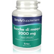 Simply Supplements Bacche di maqui 2000 mg - 180 Compresse