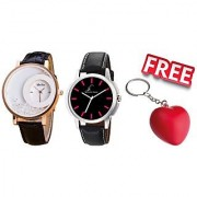 Buy 2 Stylish Graphich Watches And Get Key Chain free