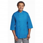 Chef Works Unisex Chefs Jacket Blue XL Size: XL