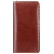 Visconti Wing Bi-Fold Brown Genuine Leather Wallet For Men & Women