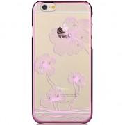 COMMA Coque iPhone 6 6s Fleurs - Cristaux Swarovski - Lilac Purple Chrome