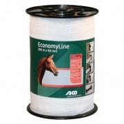 AKO Economyline villanypásztor szalag 200m, 40mm, fehér