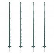 60x VOSS.farming Electric Fence Posts, Plastic, 150 cm, 14 Lugs, Green
