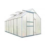 Zelsius - Aluminium Gewächshaus, 380 x 190 cm, 6 Segm., 6 mm Platten