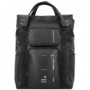 Piquadro Kyoto Businessrucksack Leder 41 cm Laptopfach blackschwarz