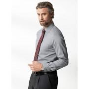 Walbusch Extraglatt-Hemd Gitterkaro Grau 40