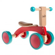 Walk and Ride Wooden 4 Wheel Tricycle with Seat Walking 1 - 2 Yrs Old