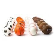 """Set of 24 Sports 2.5"""" Stress Balls - Includes Soccer Ball"""