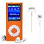 Mini MP3 MP4 Player Radio cu afisaj digital capacitate card pana la 32GB culoare Portocaliu
