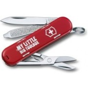 Victorinox 0.6223.L1404B Classic My Little Big Toolbox 7 Function Multi Utility Swiss Knife(Red)
