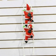 Tradico Christmas Party Home Decoration Santa Claus with Red Sling Climbing Stairs Toys Kids Children Gift