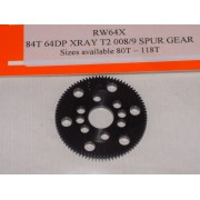 RW 64X84T 84 Tooth Xray T2, T3,T4 Offset Supa-lite Spur Gear 64dp