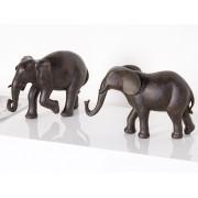 Decoratiune cu grup de 2 elefanti din rasina cod HAL018
