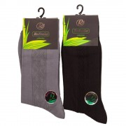 "RuSocks Комплект из 10 пар мужских носков из бамбукового волокна черного цвета ""RuSocks"" M-440"