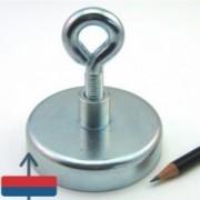 Magnet neodim oală D 75 mm cârlig inelar - fishing / pescuit