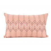 Pt Sierkussen Stitched Flow - Dusty pink with Dark Blue