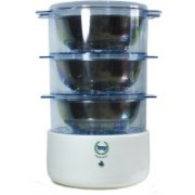 IZZY Cook3c Food Steamer, Rice Cooker, Travel Cooker(3.6 L, Blue)