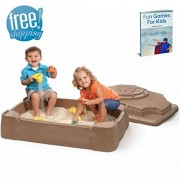 NAKSHOP Sandpits For Kids Play Beach Toy Games Outward Naturally Playfort Activity Outdoor Garden Children's Playful Child Backyard Sandbox Cover For Toddlers Kidkraft Outside Sand And eBook By NAKSHOP