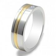 Inel magnetic cu zirconiu, placat cu aur VOX 49