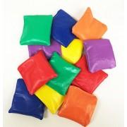 GIFTEXPRESS 1 DOZEN Heavy Nylon Reinforced Bean Bags Educational Toss Games Parachute Games Classroom Supplies