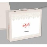 Cuvertura de pat Valentini Bianco Deluxe Collection Model Vivere Pudra