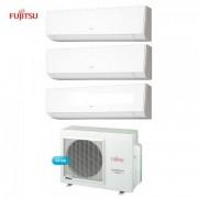 Fujitsu Climatizzatore Condizionatore Fujitsu Trial Split Parete Lmce Inverter Serie Lm 9+9+9 Btu + Aoyg24lat3