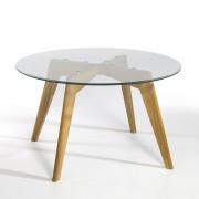 AM.PM. Стол круглый из стекла и дуба Ø130 см, Kristal