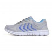 Zapatillas De Deporte Tenis Casuales Unisexo Zapatos Corrientes De Malla Transpirable -Gris Y Azul
