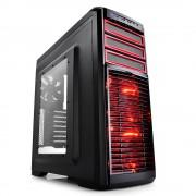 Deepcool Kendomen RD Mid-Tower Case, 5 Fans Pre-installed, Red