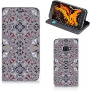 Standcase Samsung Galaxy Xcover 4s Bloemen