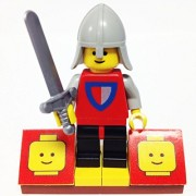 "Minifigure Packs: Lego Castle Bundle ""(1) Classic Castle Knight"" ""(1) Figure Display Base"" ""(1) Figure Accessory"""