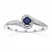 Silvego Stříbrný prsten IDONEA s přírodním safírem - FNJR016sa