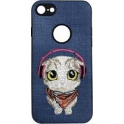 Carcasa Lemontti Embroidery iPhone 7 Blue Puppy