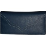 Style 98 Women Casual Blue Genuine Leather Wallet(7 Card Slots)