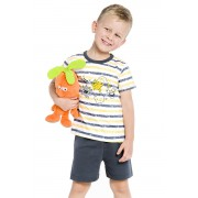 Max Monsters fiú pamut pizsama 122