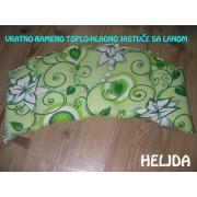 Vratno-rameno jastuče punjeno lanom